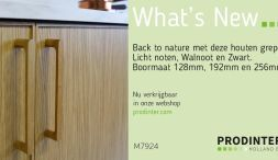 Back to nature met deze houten grepen. Vraag nu een sample aan voor in uw showroom