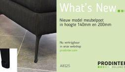 Minimalistische meubelpoot A8125 nieuw in ons assortiment