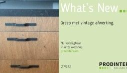 Op zoek naar een stoere greep? Deze greep met vintage afwerking voegt iets toe aan zowel een landelijke keuken als aan een modern meubel.